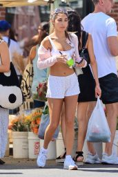 Chantel Jeffries - Shopping at a Farmers Market in West Hollywood 08/29/2021