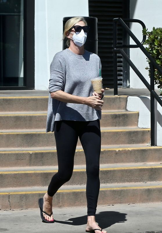 Charlize Theron at Her Local Starbucks - West Hollywood 08/27/2021