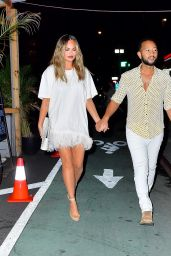 Chrissy Teigen and John Legend - Night Out in NY 08/19/2021