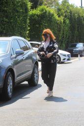 Christina Hendricks – Leaves Jennifer Klien's Day of Indulgence in Brentwood 08/15/2021