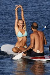 Christine Quinn - Practicing Yoga on a Board in Taormina 08/07/2021
