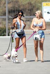 CJ Franco and Victoria Larson at the Beach in Santa Monica 04/08/2021