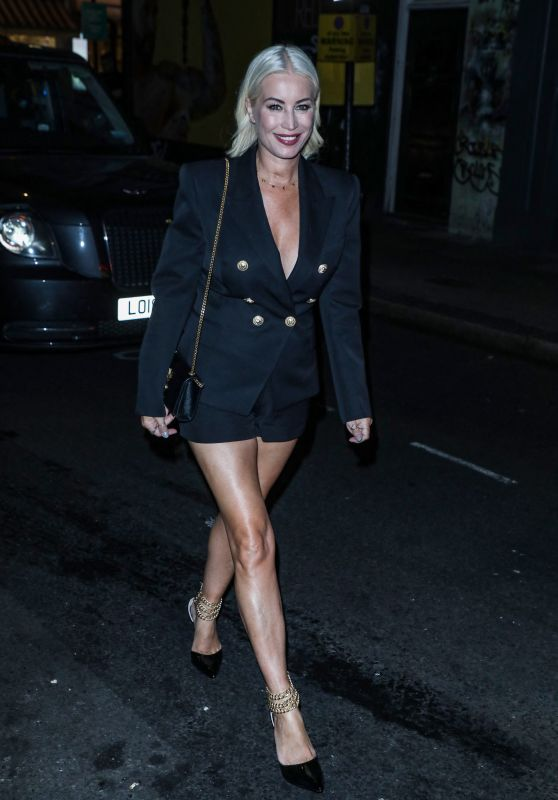 Denise Van Outen at the Groucho Club in London