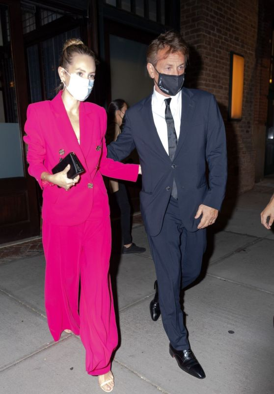Dylan Penn and Sean Penn - Tribeca in NYC 08/17/2021