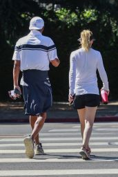 Ellen Pompeo and Husband Chris Ivery - Hiking at Griffith Park in Los Feliz 08/02/2021