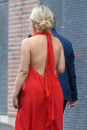Emily Atack in a Red Dress - Manchester City Centre 08/14/2021