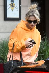 Emily Atack - Leaves Her Hotel in Manchester 08/15/2021