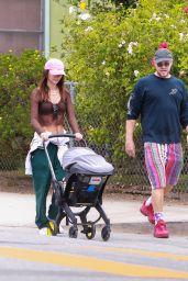 Emily Ratajkowski and Sebastian Bear-McClard Stroll in LA 08/22/2021