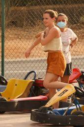 Emma Watson Hits the Track by Go Karting - Ibiza 08/13/2021