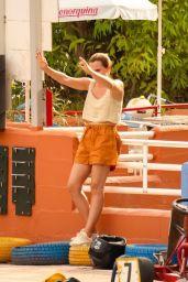 Emma Watson Hits the Track by Go Karting - Ibiza 08/13/2021 (more photos)