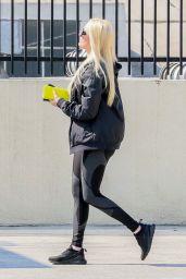Erika Jayne in a Pair of Leggings and a Black Windbreaker - LA 08/25/2021