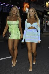 Eve Gale and Jess Gale – ISAWITFIRST Love Island Party in Manchester 08/21/2021