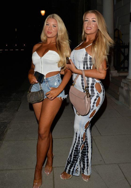 Eve Gale and Jess Gale - Night Out in Mayfair, London 08/25/2021