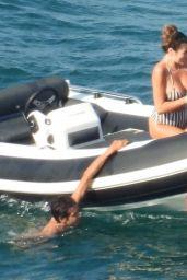 Francesca Sofia Novello on a Yacht in Italy 08/25/2021