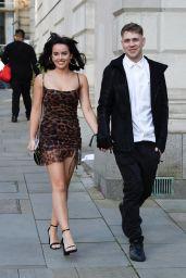 Georgia May Foote Leggy in Mini Dress - Manchester 08/22/2021