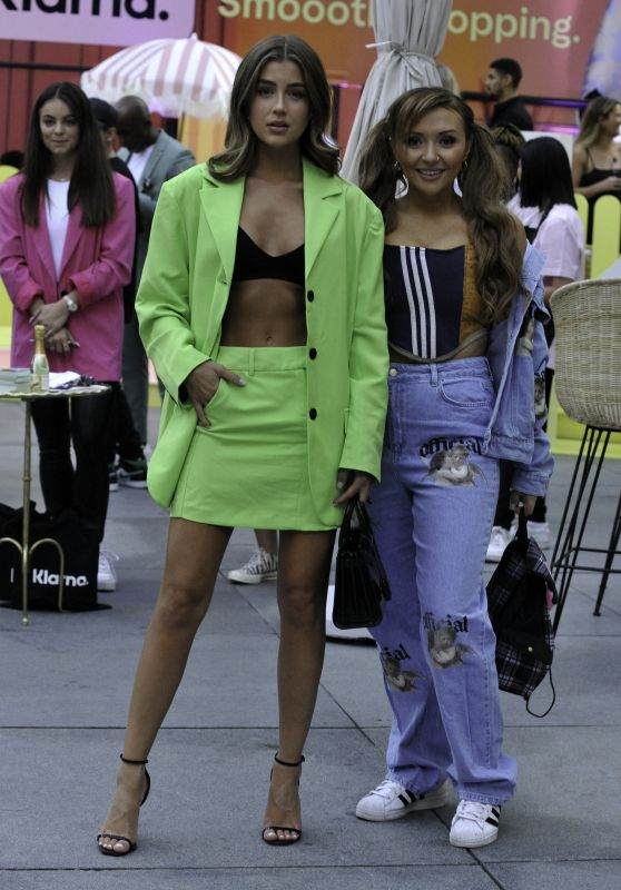 Georgia Steel and Kimberly Hart-Simpson at the Klarna Party on Deansgate in Manchester 08/12/2021