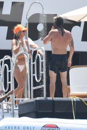 Heidi Klum and Leni Klum on a Luxury Yacht in Capri 07/31/2021