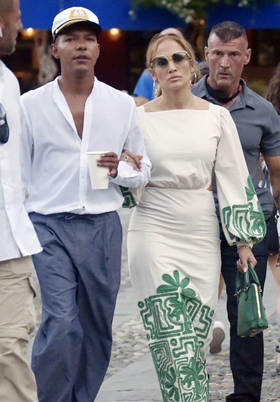Jennifer Lopez at Ristorante Puny in Portofino 07/31/2021