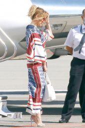 Jennifer Lopez - Boards a Private Jet in Saint Tropez 08/01/2021