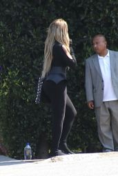 Jennifer Lopez Wore an All Black Outfit With a Colorful Face Cover - Brentwood 08/15/2021