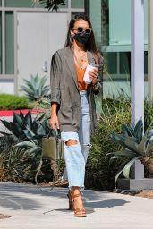 Jessica Alba in a Ripped Jeans - Santa Monica 08/10/2021