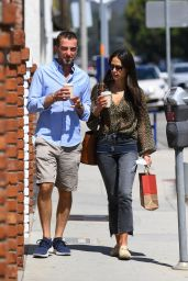 Jordana Brewster at the Brentwood Country Mart 08/04/2021