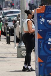 Jordyn Woods and Karl Anthony Towns - Out in West Hollywood 08/18/2021