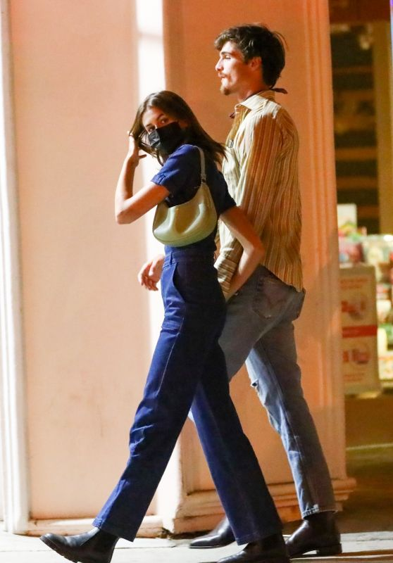Kaia Gerber and Jacob Elordi - Night Out in Los Angeles 08/04/2021