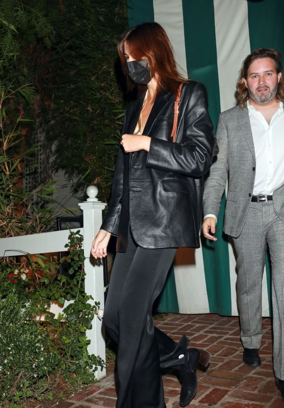 Kaia Gerber at James Bond Viewing Party in West Hollywood 08/23/2021