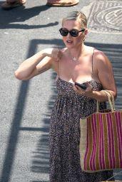Katy Perry in a Leopard Print Summer Dress - Capri 08/02/2021