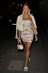 Kazimir Crossley and Joanna Chimonedes Night Out Style - Mayfair Hotel in London 08/26/2021