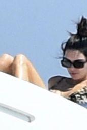 Kendall Jenner in a Bikini on a Yacht in Sardinia 08/20/2021