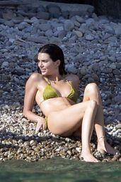 Kendall Jenner in a Green Bikini in Ponza 08/23/2021