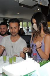 """Kendall Jenner - Promote her Tequila Brand """"Drink 818"""" at 75Main Bar in New York 08/16/2021"""