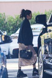 Kourtney Kardashian and Travis Barker at the Beverly Hills Hotel in Beverly Hills 08/09/2021