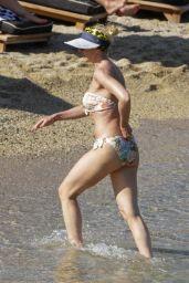 Kristina Orbakaite in a Bikini - Mykonos 08/12/2021