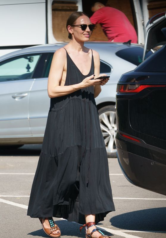 Laura Haddock at a Civic Amenity Site in Buckinghamshire 07/20/2021