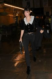 Lily Allen in a White Collard Top and Denim - London 08/09/2021