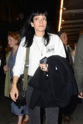 Lily Allen - Leaving Noel Coward Theatre in London 08/10/2021