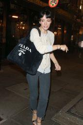 Lily Allen - Leaving The Noel Coward Theatre in London 08/04/2021