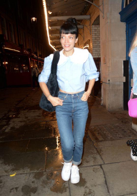 Lily Allen Night Out - J Sheekey Restaurant in London 08/05/2021