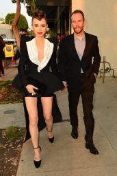 Lily Collins and Charlie McDowell at Cartier