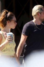 Lily James With Boyfriend Michael Shuman 08/08/2021