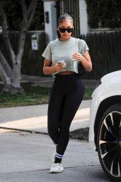 Lori Harvey in a Crop Top and Leggings - West Hollywood 08/25/2021