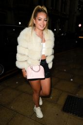 Lucinda Strafford Night Out Style - Rosso Restaurant in Manchester 08/04/2021