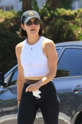 Lucy Hale - Grabs an Iced Coffee in LA 08/05/2021
