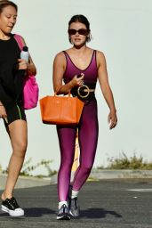 Lucy Hale in a Gym Ready Outfit - Los Angeles 08/08/2021