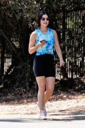 Lucy Hale in Leggings - Los Angeles 08/06/2021