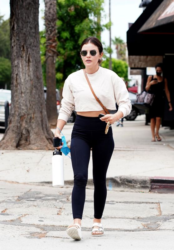 Lucy Hale in Tights - Studio City 08/19/2021
