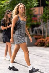 Maddie Ziegler in Mini Dress -in New York City 08/04/2021